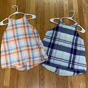 Old Navy Plaid Tank Tops Size Small